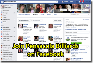 Join the Pensacola Billiards Facebook Page Today!