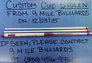 Help us find this stolen cue