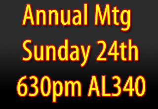 Annual Meeting 24 August 2014 - 6PM - American Legion 340