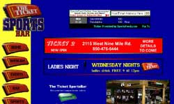 Tickets Sports Bar Website